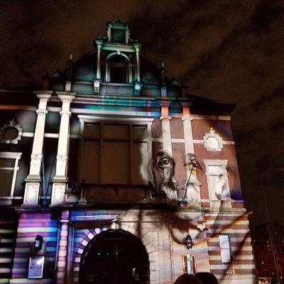 URBANSCREEN's Light-Art Show projection