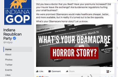 Indiana GOP Facebook page