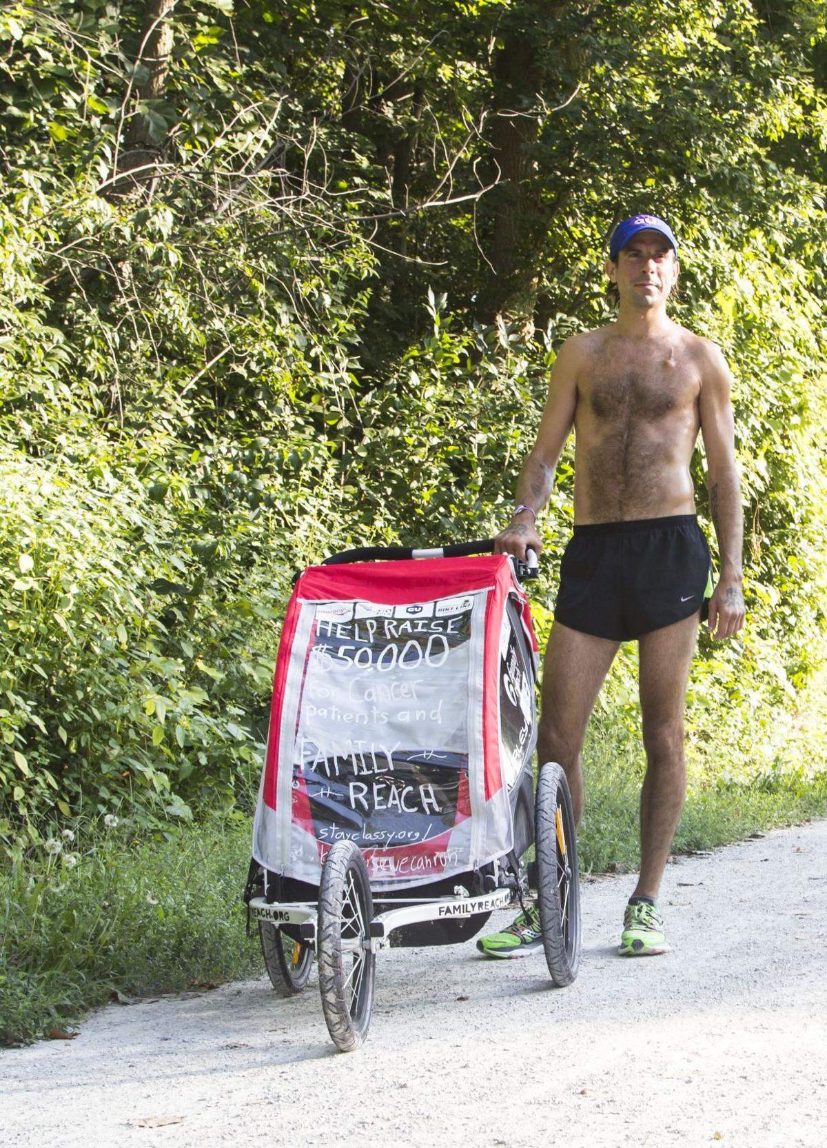 Scott Spitz is running the length of Indiana to fight cancer