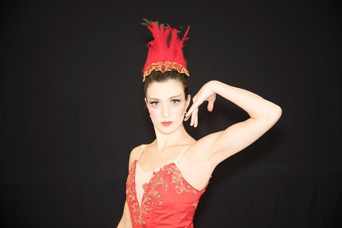Indianapolis Ballet founding company member Kristen Young Toner models hand-crafted tutu
