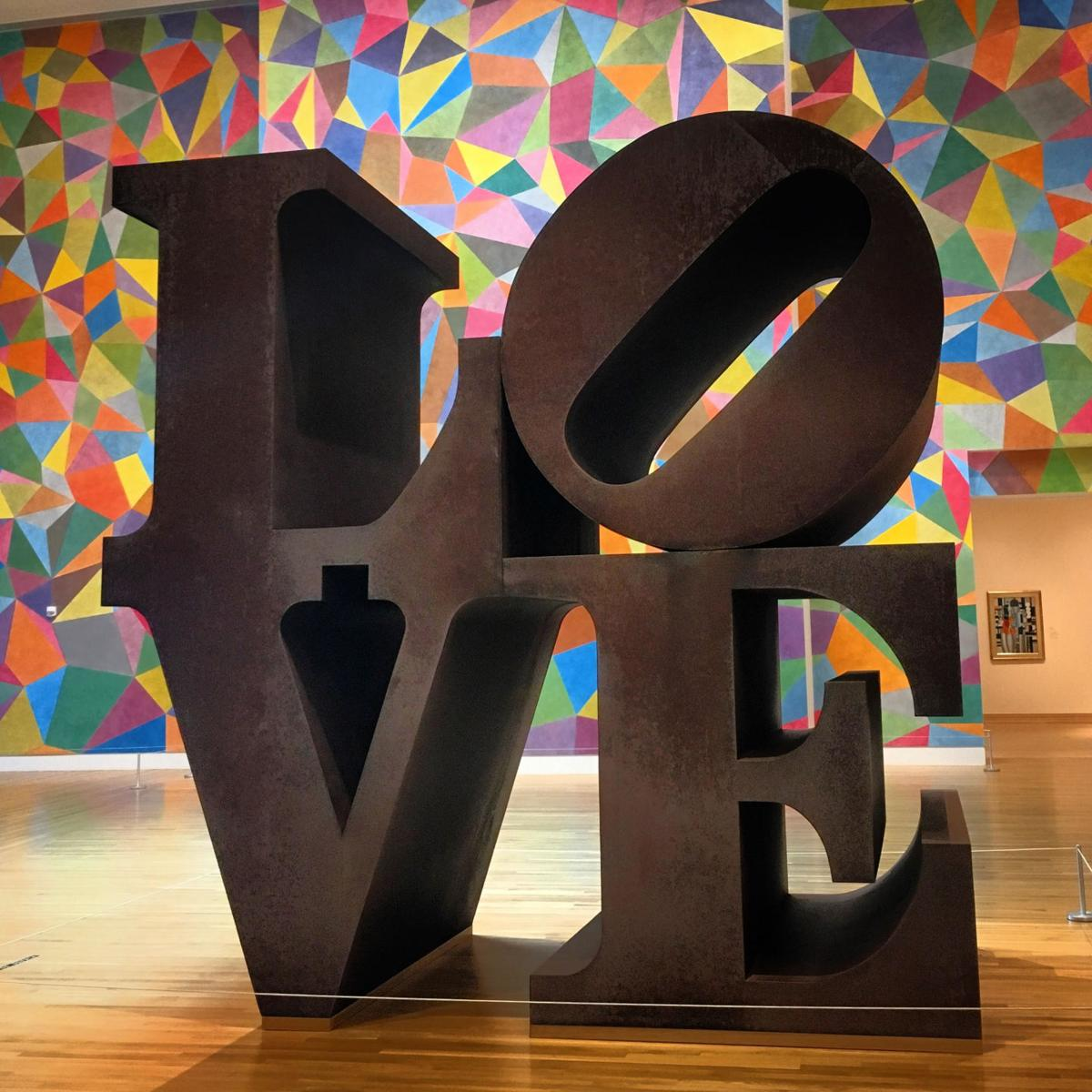 """LOVE"" by Robert Indiana at the IMA at Newfields"