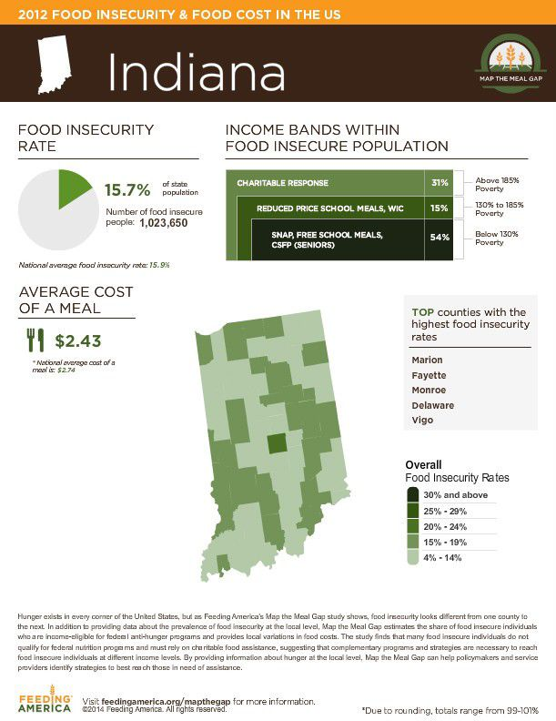 Mapping the Meal Gap in Indiana