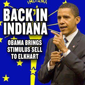 Obama back in Indiana