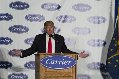 Trump at Carrier 120117