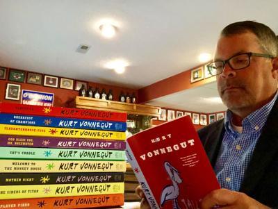 Donovan Wheeler with his Vonnegut collection