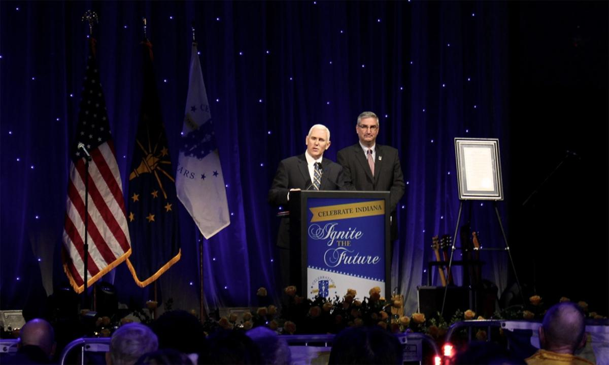 Pence, Holcomb celebrate Indiana's 200th birthday