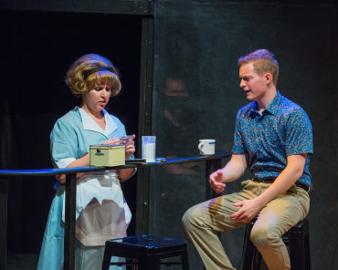 """Leela Rothenberg and Patrick Dinnsen in Eclipse's """"Dogfight."""""""