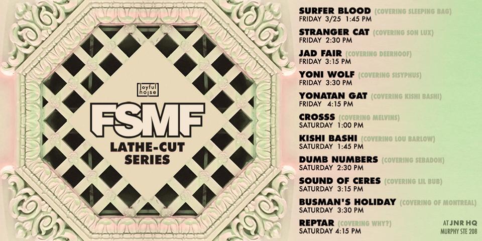 Joyful Noise lathe-cutting session schedule for FSMF