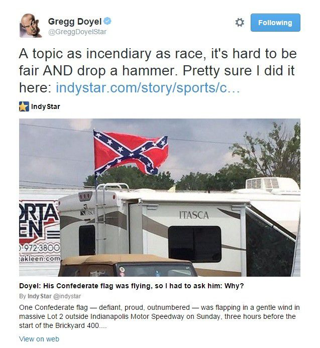 Gregg Doyel on the Confederate Flag and Courage