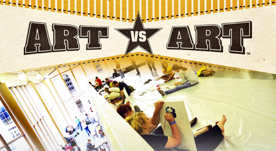 Art vs. Art paint day, main event coming up