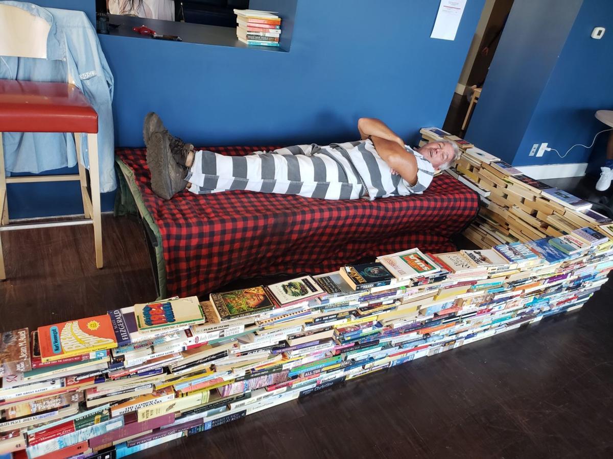 Tipton high school teacher Brett Stoker, captive of KVML Freedom to Read Week
