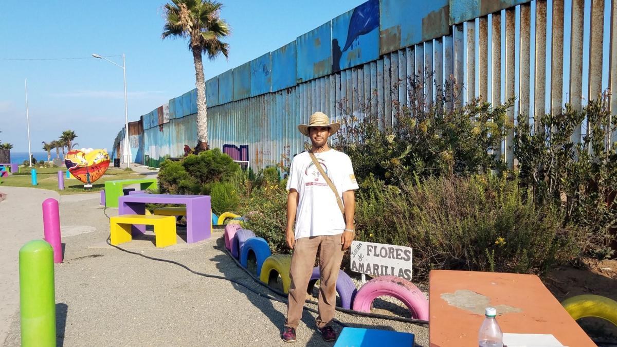 Dan Watman, coordinator of the Binational Friendship Garden