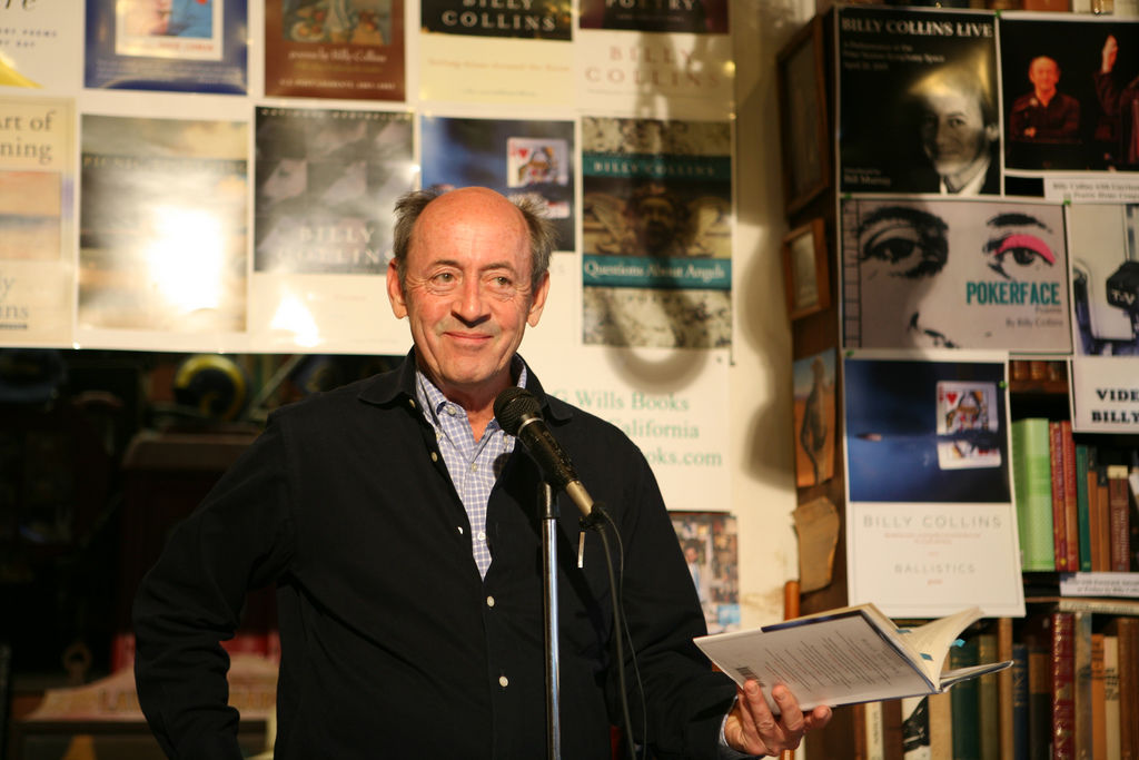 Billy Collins at the mic