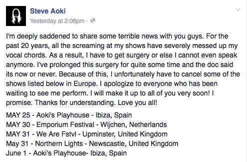 Steve Aoki talks surgery, latest album