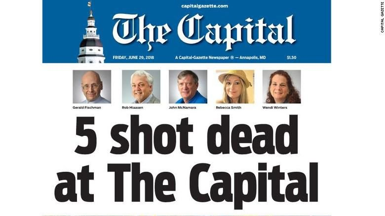 Capital Gazette frontpage