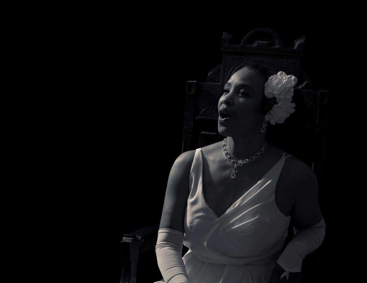 Monica Cantrell performing as Billie Holiday