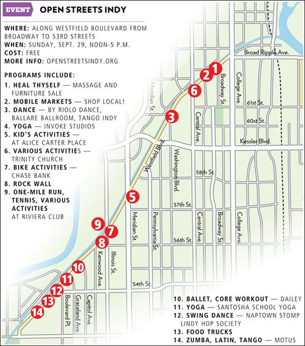 Westfield Blvd closing Sun for Open Streets