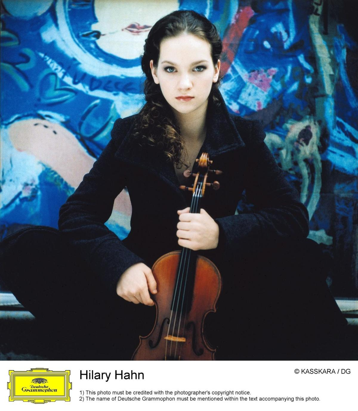 Hilary Hahn with the ISO