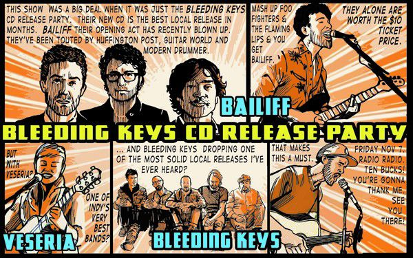 Barfly: Bleeding Keys release show