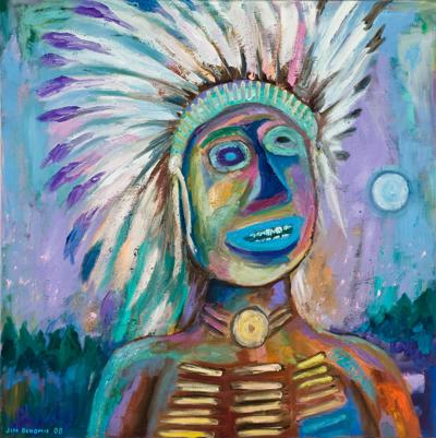 Blue-Eyed Chief by Jim Denomie