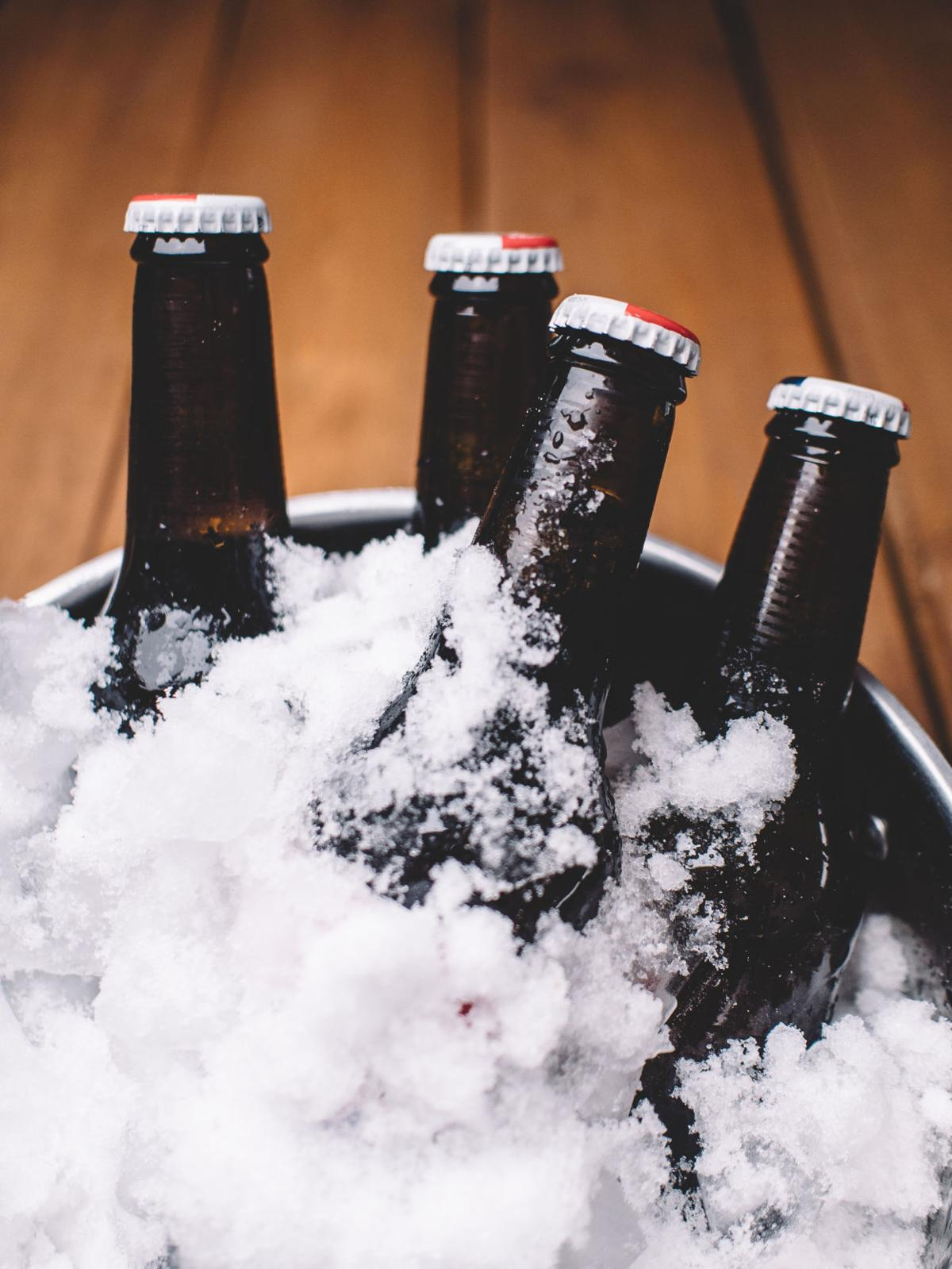 winter snow beer