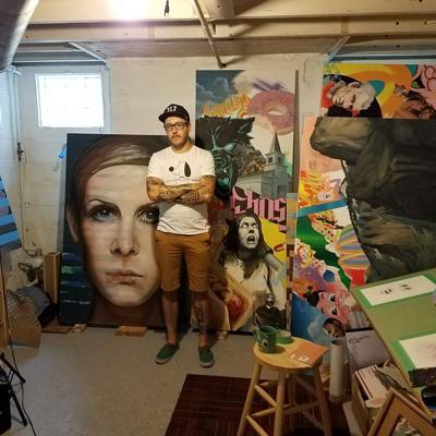 Martin Kuntz in his studio