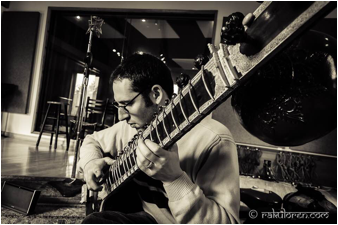 Chatting with sitar player Josh Feinberg before his Saturday show