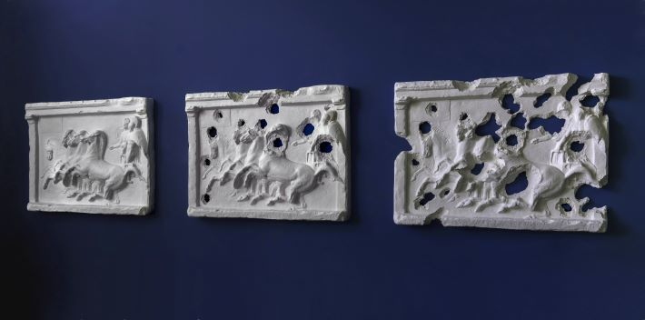 """ISIS Bullet Hole Painting (Four Horses)"" by Piers Secunda"