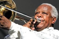 Legendary Indy jazz trombonist Slide Hampton turns 75