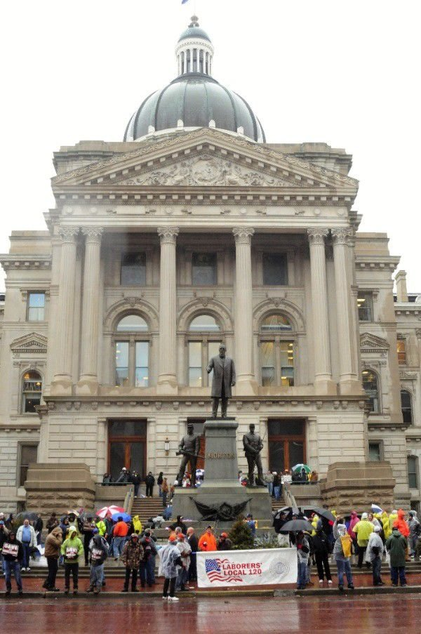 Slideshow: Workers protest at Statehouse