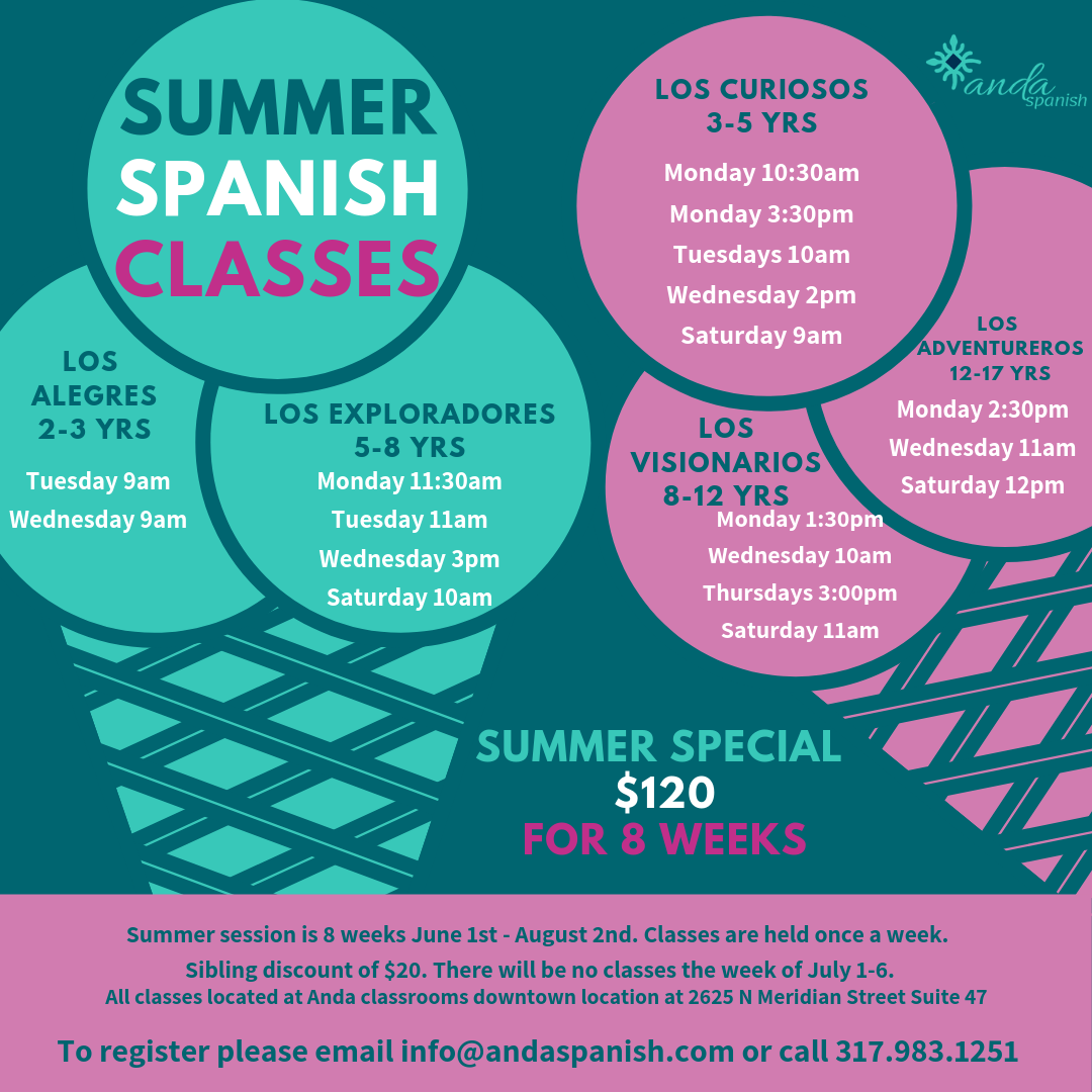 Anda Summer Spanish Classes
