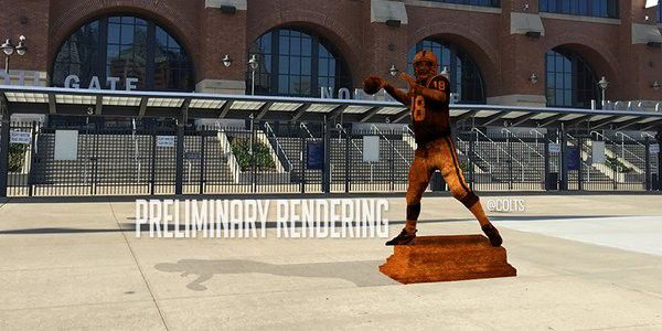 Manning is a statue