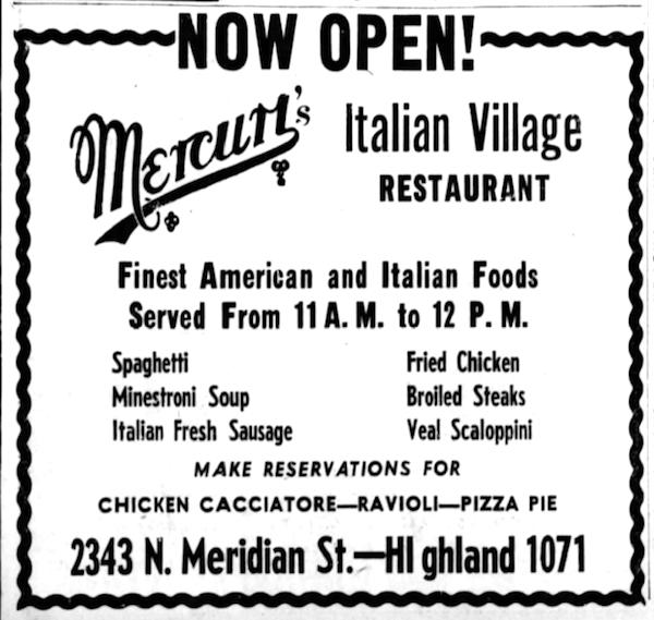 Mercuri's Italian Village, 1947.png