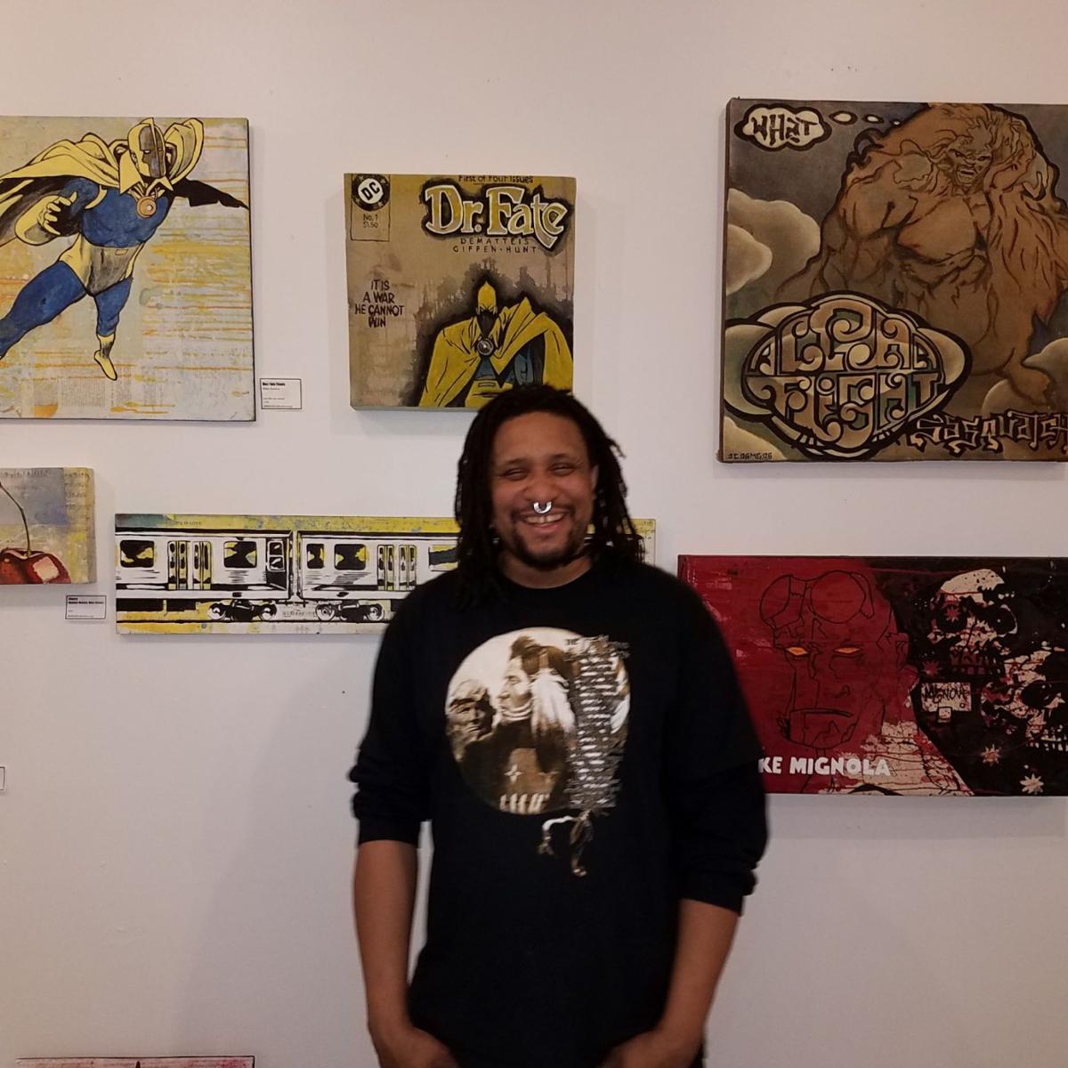 Mike Graves in Murphy Art Center studio 213