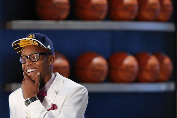 Video: Pacers Rookie Myles Turner stuffs Lebron