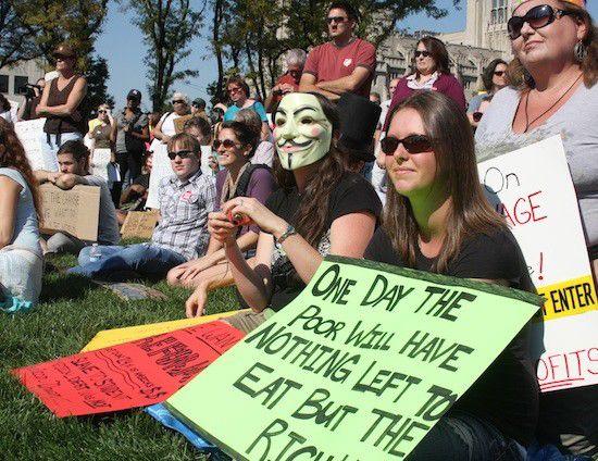 Occupy waning; hardcore few hang tough