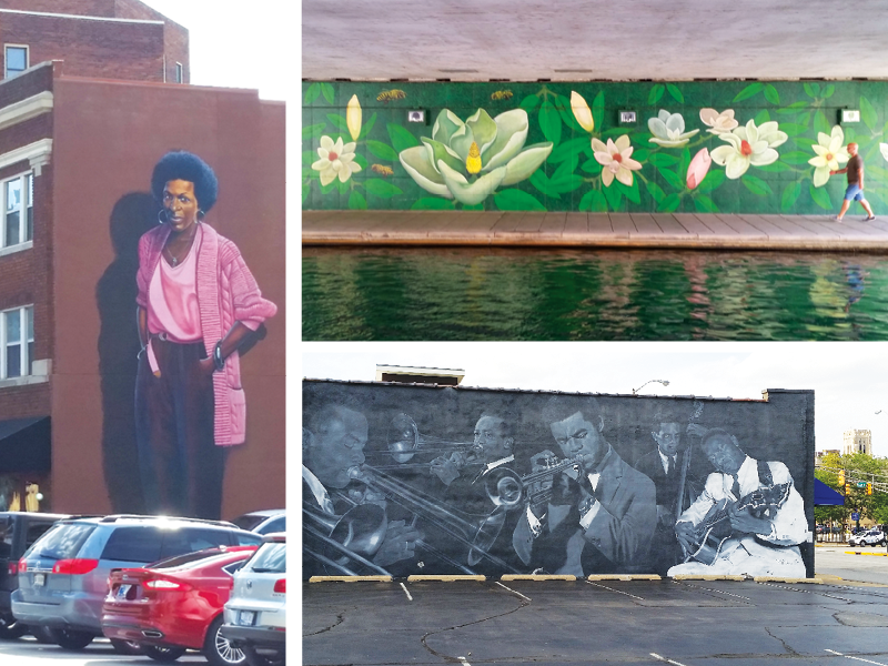 The many murals of Indy.