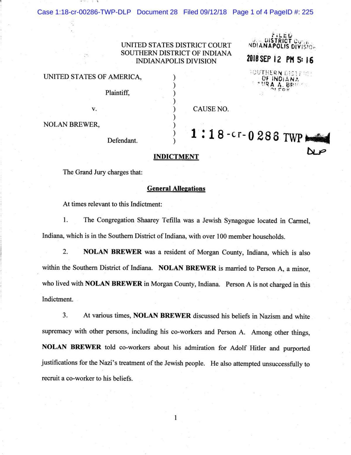 Brewer Indictment