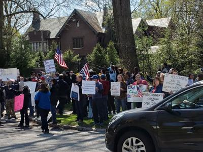Coronavirus Diary: A Stay-at-Home Order Protest at the Governor's Mansion