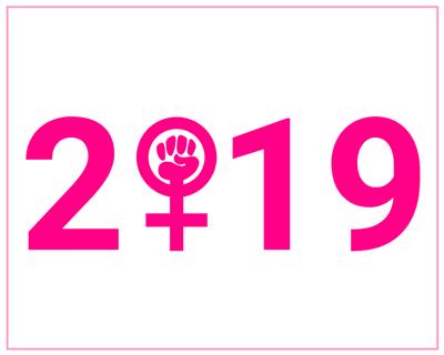 Female symbol fist 2019