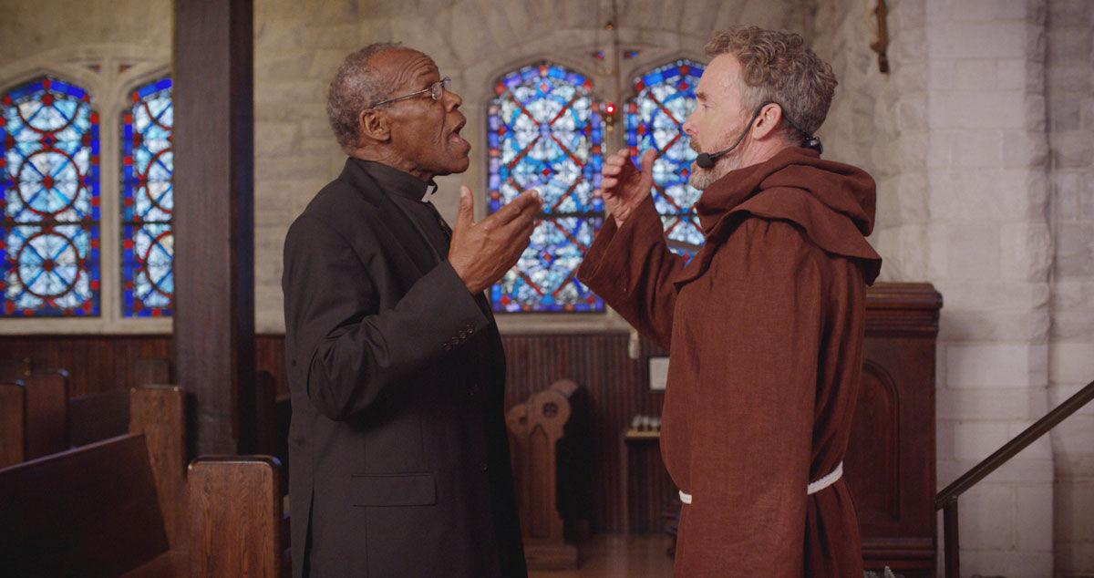 John C. McGinley and Danny Glover in The Good Catholic