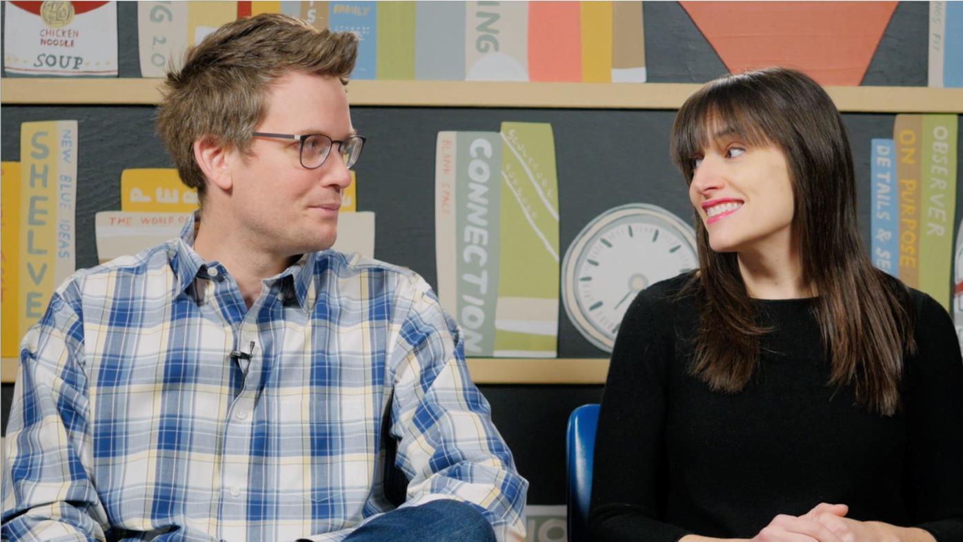 John Green and Sarah Urist Green in 'The Art Assignment'