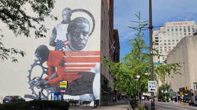 Major Taylor mural