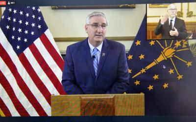 Seeking re-election, Holcomb highlights progress on teacher pay — and what comes next