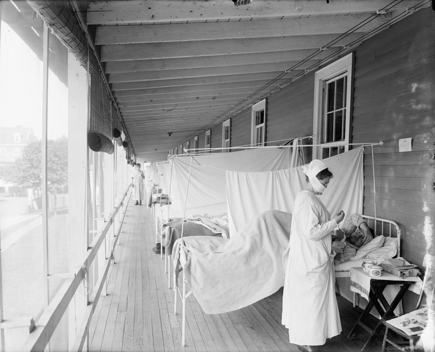 The Walter Reed Hospital Spanish Flu ward during the 1918 pandemic