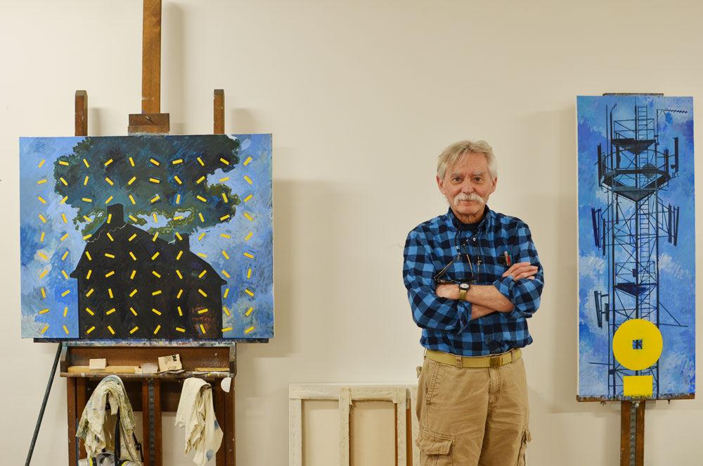Richard Emery Nickolson in his studio