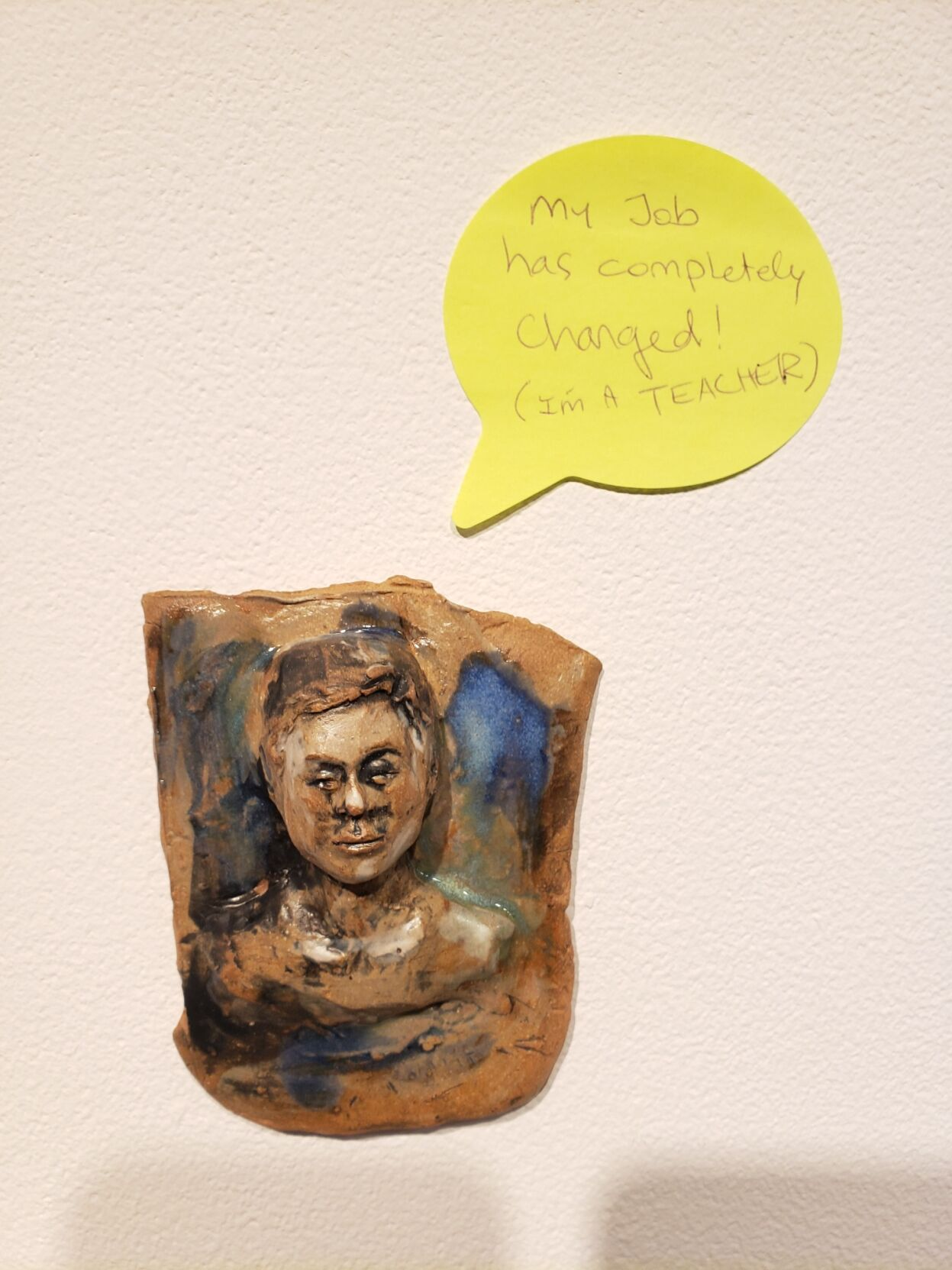 """Ceramic face sculpture"" by Katrina Murray"