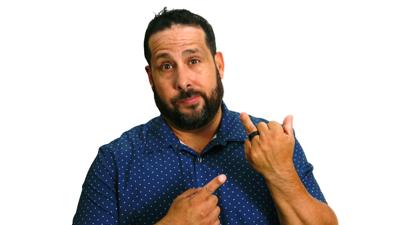 Comedian Steve Treviño sees the glass half full
