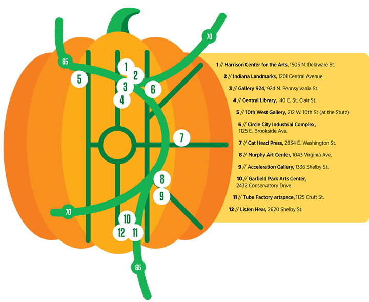 October First Friday map
