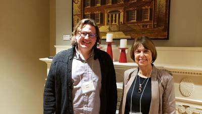 Jason Kelly, Director of the IUPUI Arts & Humanities Institute and Rabbi Sandy Sasso